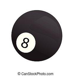 Isolated billiard ball icon. Vector illustration design