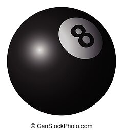 Isolated billiard ball on a white background, Vector...