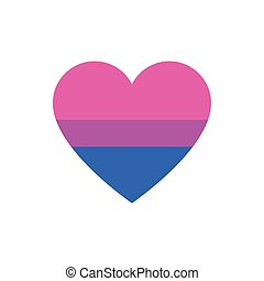 Isolated bisexual heart vector design - Bisexual heart...
