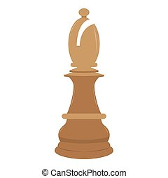 Isolated bishop chess piece icon. Vector illustration design