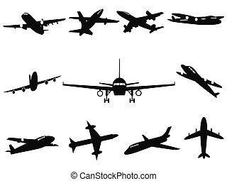 Airplane silhouettes