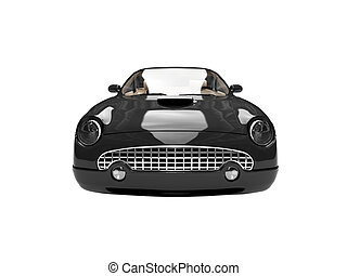isolated black car front view 03 - isolated american car on...