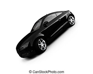 isolated black car front view