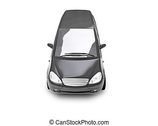 isolated black car top view