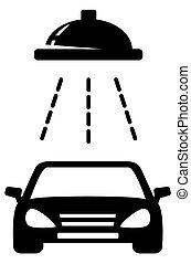 isolated black car wash icon
