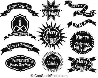black christmas labels