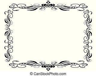 black classic decor frame