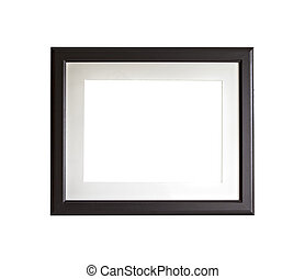 Isolated black frame mock up