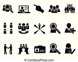 black Job Icons set