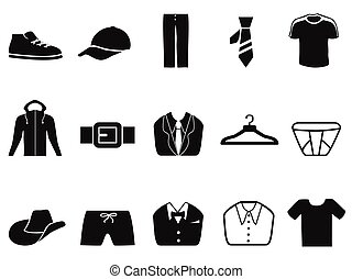 Black Men fashion icons set