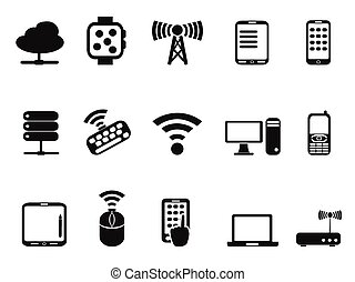 mobile computer device network icons