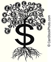 black money currency tree