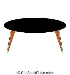 Isolated black office coffee table - Vector illustration