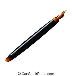 Isolated black pen