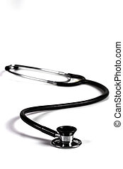 Isolated Black Stethoscope