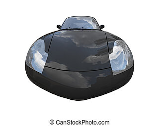 isolated black super car front view 04 - isolated black car ...