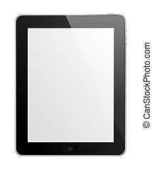 Isolated black Touch Pad with empty screen and editable