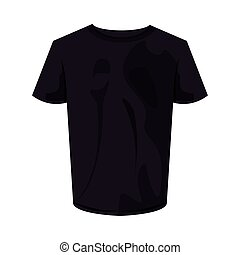 black tshirt design, Cloth fashion style wear and store theme Vector illustration