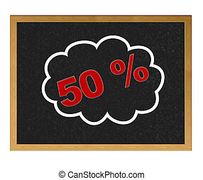 50 % discount.