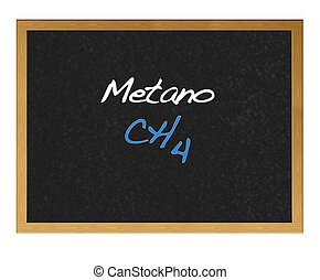 Methane. - Isolated blackboard with Methane.