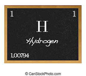 Hydrogen chemical element with symbol h drawing search clip art isolated blackboard with periodic table hydrogen urtaz Gallery