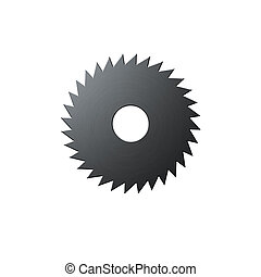 Isolated blade of saw on the white background