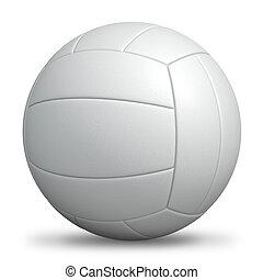 isolated., blanco, voleibol, estándar