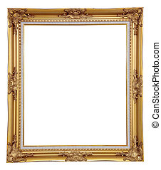isolated blank classic photo frame