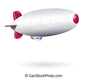 Isolated blank dirigible - Illustration of isolated...