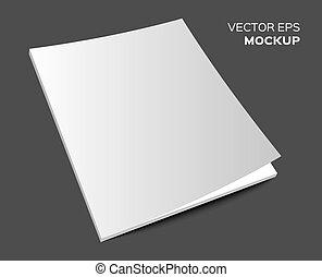 isolated blank magazine mockup - Isolated blank brochure or...