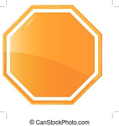 Isolated Blank Orange Sign,