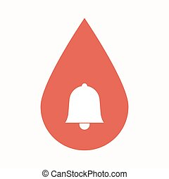 Isolated blood drop with a bell