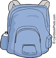 Isolated Blue Backpack