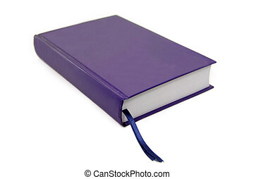 isolated blue book