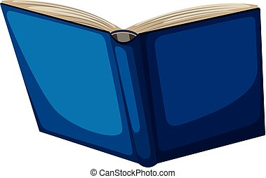 Isolated blue book white background