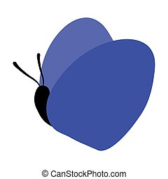 Isolated blue butterfly