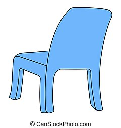 Isolated blue chair