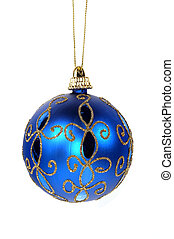 Blue Christmas Ornament - Isolated Blue Christmas Ornament