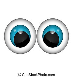 Isolated blue eyes cartoon