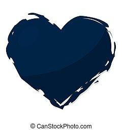 Isolated blue grunge heart