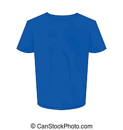blue tshirt design, Cloth fashion style wear and store theme Vector illustration