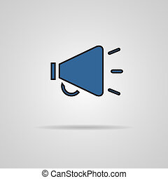 Isolated blue web icon on gray background