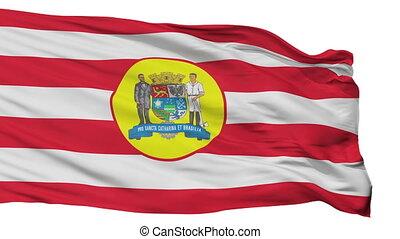 Isolated Blumenau city flag, Brasil - Blumenau flag, city of...