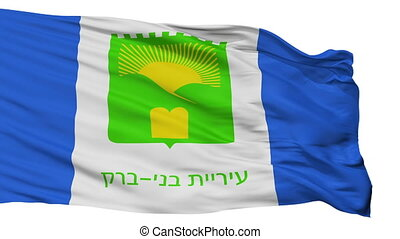 Isolated Bnei Brak city flag, Israel - Bnei Brak flag, city...