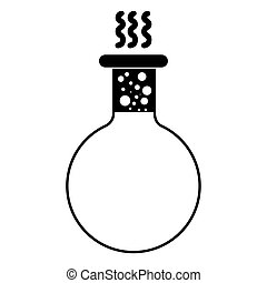 Isolated boiling flask icon on a white background