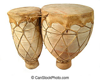isolated bongos