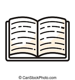 ISolated book icon on a white background