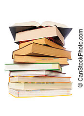 isolated books on white