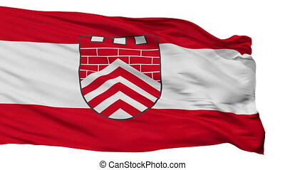 Isolated Borgholzhausen city flag, Germany - Borgholzhausen...