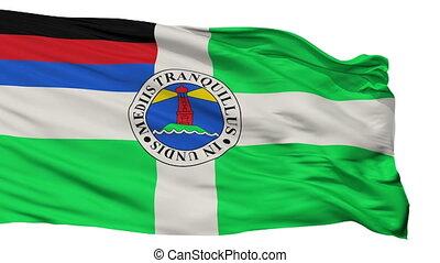 Isolated Borkum city flag, Germany - Borkum flag, city of...